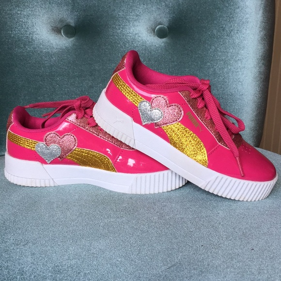 Puma Shoes   S Sneakers Pink With Gold
